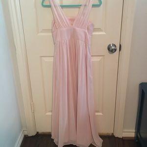 Jr. bridesmaid's dress - Dessy girl blush gold